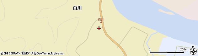 秋田県秋田市雄和女米木(白川)周辺の地図