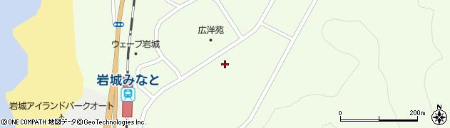 秋田県由利本荘市岩城内道川(築防潟)周辺の地図