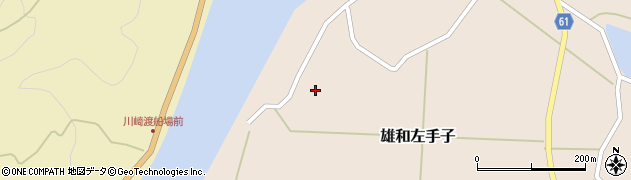 秋田県秋田市雄和左手子(白川袋)周辺の地図