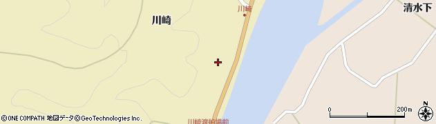 秋田県秋田市雄和女米木(川崎)周辺の地図