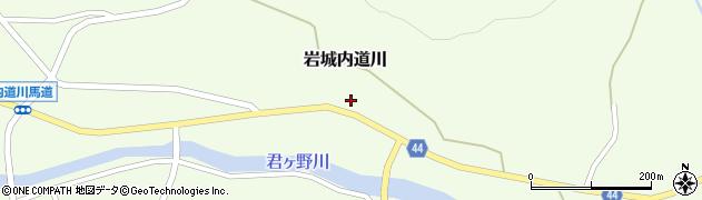 秋田県由利本荘市岩城内道川(観音下)周辺の地図
