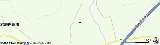 秋田県由利本荘市岩城内道川(中野)周辺の地図