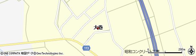 秋田県大仙市大巻周辺の地図