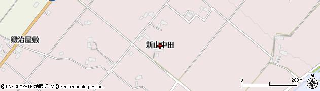 秋田県大仙市北長野(新山中田)周辺の地図