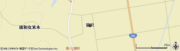 秋田県秋田市雄和女米木(猫沢)周辺の地図