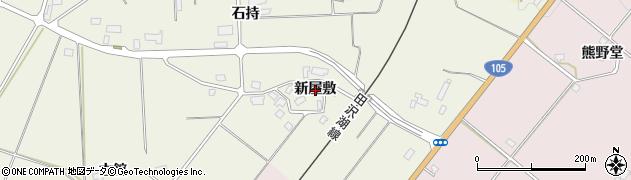 秋田県大仙市上鴬野(新屋敷)周辺の地図
