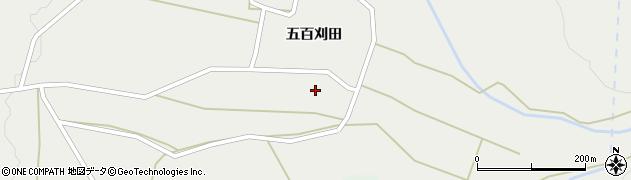 秋田県大仙市豊岡(上五百刈田)周辺の地図