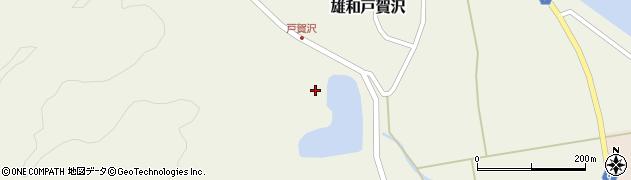 秋田県秋田市雄和戸賀沢(宮田沢)周辺の地図