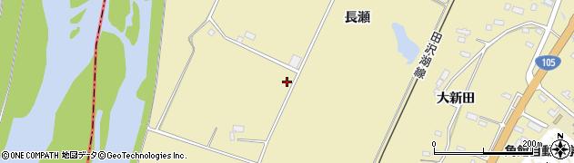秋田県大仙市下鴬野周辺の地図