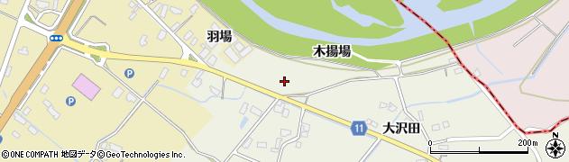 秋田県大仙市上鴬野(木揚場)周辺の地図