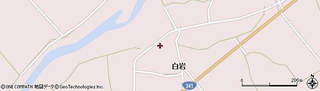 秋田県大仙市協和中淀川(白岩)周辺の地図