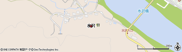秋田県秋田市雄和平沢(水沢)周辺の地図