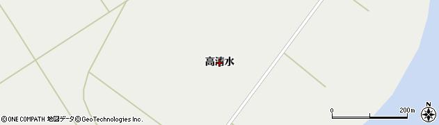 秋田県秋田市雄和相川(高清水)周辺の地図