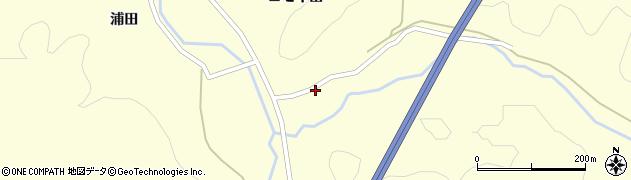 秋田県秋田市下浜名ケ沢(兵屋敷)周辺の地図