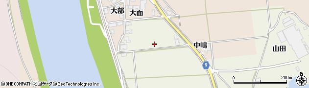 秋田県秋田市雄和石田(下大部)周辺の地図