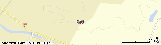 秋田県秋田市下浜羽川(岩瀬)周辺の地図