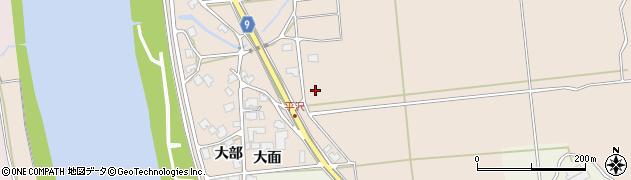 秋田県秋田市雄和平沢周辺の地図