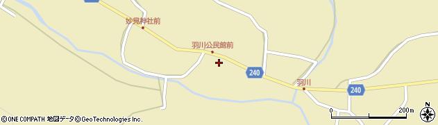 秋田県秋田市下浜羽川(二十町)周辺の地図