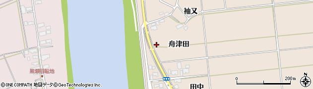 秋田県秋田市雄和平沢(舟津田)周辺の地図