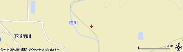 秋田県秋田市下浜羽川(小金沢)周辺の地図