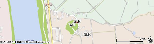 秋田県秋田市雄和平沢(金沢)周辺の地図