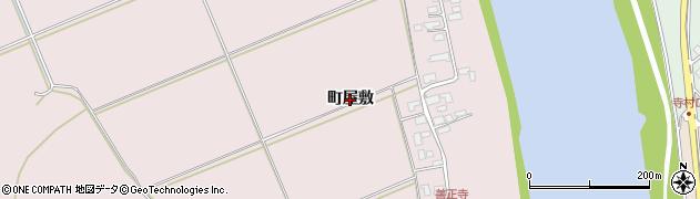 秋田県秋田市雄和下黒瀬(町屋敷)周辺の地図