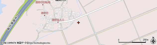 秋田県秋田市雄和下黒瀬(湯野沢)周辺の地図