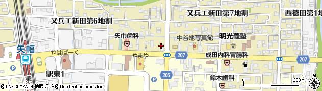 となんタクシー矢巾周辺の地図