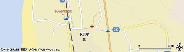 秋田県秋田市下浜羽川(水垂)周辺の地図