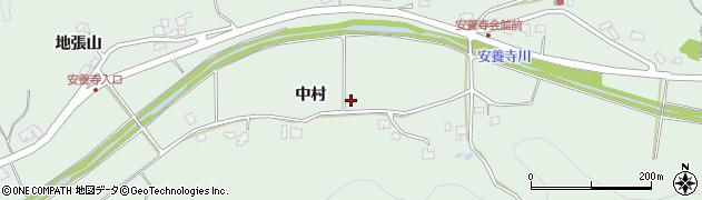 秋田県秋田市雄和椿川(中村)周辺の地図