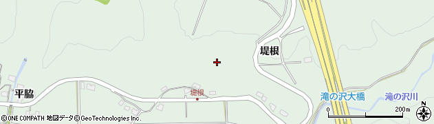 秋田県秋田市雄和椿川(堤根)周辺の地図