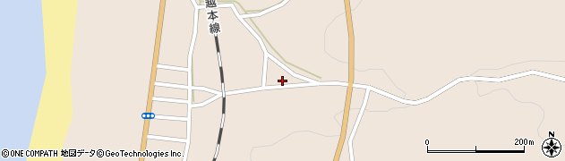 秋田県秋田市下浜長浜(柳沢道脇)周辺の地図