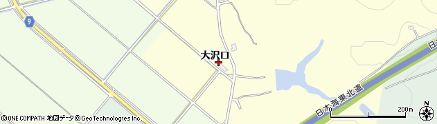 秋田県秋田市雄和田草川(大沢口)周辺の地図