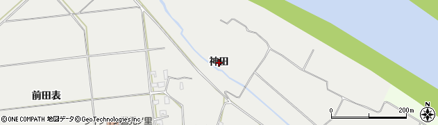 秋田県秋田市豊岩小山(神田)周辺の地図