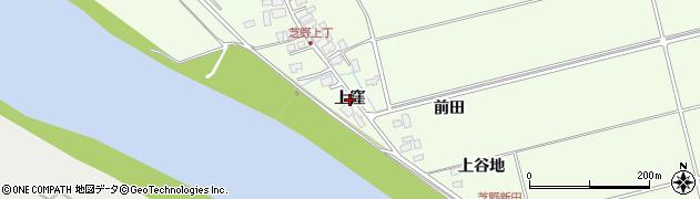 秋田県秋田市雄和芝野新田(上窪)周辺の地図
