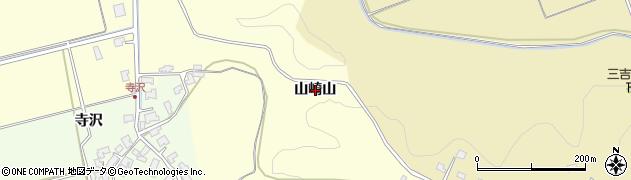 秋田県秋田市雄和田草川(山崎山)周辺の地図