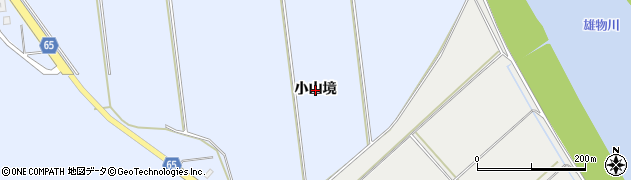 秋田県秋田市豊岩豊巻(小山境)周辺の地図