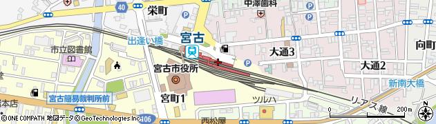岩手県宮古市周辺の地図
