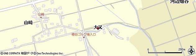 秋田県秋田市雄和田草川(大又)周辺の地図