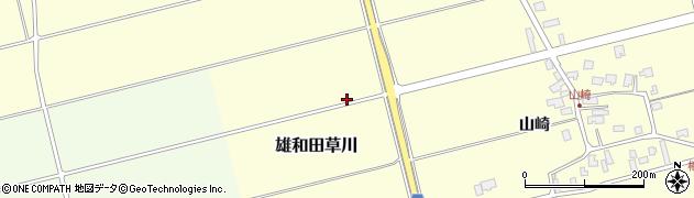 秋田県秋田市雄和田草川周辺の地図