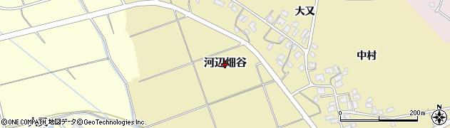 秋田県秋田市河辺畑谷周辺の地図