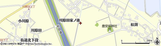 秋田県秋田市河辺松渕周辺の地図