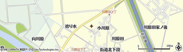 秋田県秋田市河辺松渕(街道北下段)周辺の地図