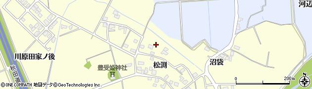 秋田県秋田市河辺松渕(松渕)周辺の地図