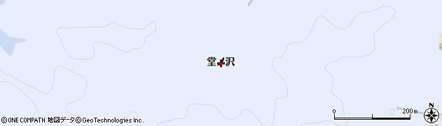 秋田県秋田市豊岩豊巻(堂ノ沢)周辺の地図