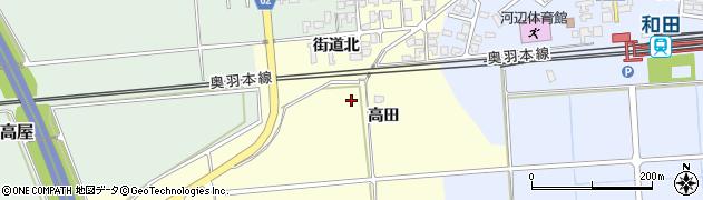 秋田県秋田市河辺松渕(高田)周辺の地図