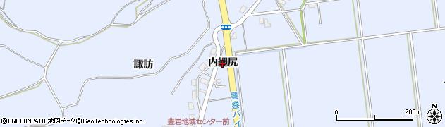 秋田県秋田市豊岩豊巻(内縄尻)周辺の地図