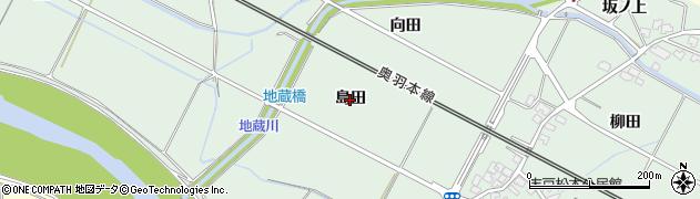 秋田県秋田市四ツ小屋末戸松本(島田)周辺の地図