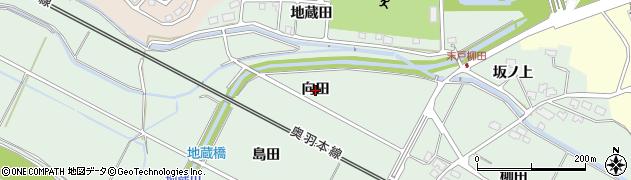 秋田県秋田市四ツ小屋末戸松本(向田)周辺の地図