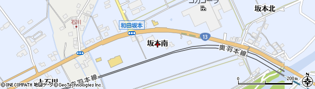 秋田県秋田市河辺和田(坂本南)周辺の地図